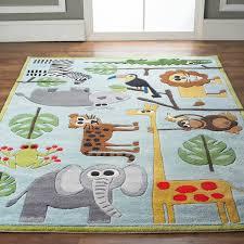 Whimsical Safari Animals Rug