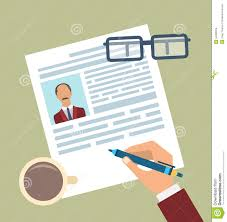 Concept Of Resume Writing Flat Simple Icons Stock Vector Image