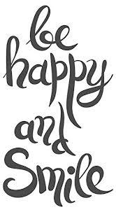 Wandtattoo Spruch Be Happy And Smile Schriftzug Auf Englisch