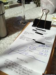 photo purportedly showing banker s % lunch bill tip altered and photo purportedly showing banker s 1% lunch bill tip altered and exaggerated updated