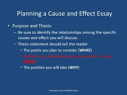 the cause and effect essay  3 planning a cause and effect essay<br