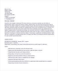 Automotive Technician Resume Amazing Technician Resume Template 40 Free Word PDF Documents Download