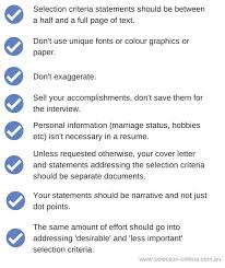 selection criteria myths cover letter selection criteria