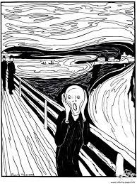 the scream coloring sheet. Modren Scream Adult Munch The Scream Coloring Pages In Coloring Sheet A