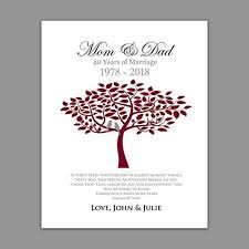 Marriage Gift Chart Amazon Com Ruby Wedding Anniversary Gift 40th Anniversary