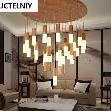 pendant lighting bar. 2017 Solid Wood Restaurant Pendant Light Bar Stair Wooden Modern Brief Living Room Led Lighting C