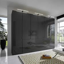 Schlafzimmer Kleiderschrank Capua In Braun Glas Beschichtet