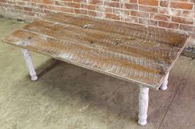 very rustic white washed coffee table07