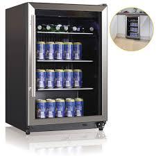 135l bar fridge w reversible glass door