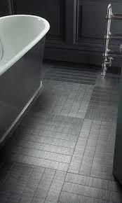 black bath tile