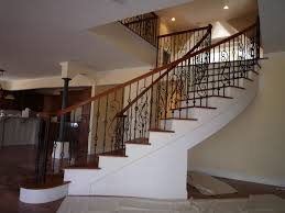 Stair Design Classic Spiral Staircase Design With Black Wrought Iron Stair