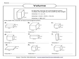 Volume Worksheet | Homeschooldressage.com