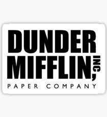 the office merchandise. dunder mifflin the office sticker merchandise t