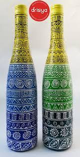 Bottle Painting Designs Images Hand Painted Designer Bottles From Drisya Bottle Art Beer