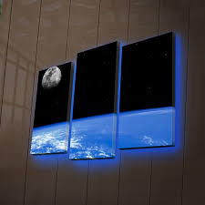 Fall Lighted Canvas Earth Moon Led Canvas Art Touch Of Modern