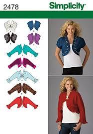 Bolero Jacket Pattern Custom Amazon Simplicity Pattern 48 Misses Bolero Jackets With