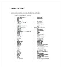 Template Reference List Job Reference List Template Things Should Be Done And Prepared In