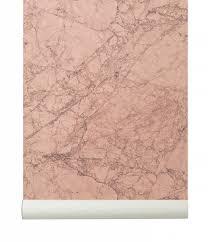 Ferm Living Behang Marble Rozegrijs Papier 1005mtrx53cm