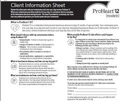 Proheart 6 Dosing Chart Proheart 12 Moxidectin For Extended Release Injectable
