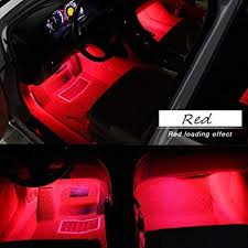 Red Neon Lights For Car Interior Car Interior Lights Ejs Super Car 4pcs 36 Led Dc 12v Waterproof Atmosphere Neon Lights Strip For Car Car Auto Floor Lights Glow Neon Light Strips