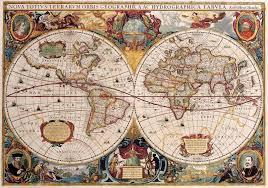 antique maps of the worlddouble hemisphere maphenricus hondiusc