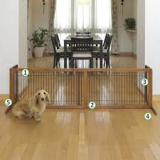 freestanding pet gate large wooden pet gate e38