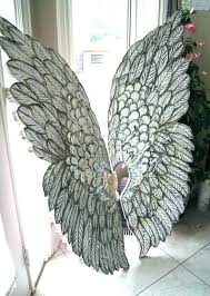 wall arts angel wings wall art large jeweled metal decor gorgeous artistic wal