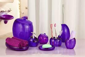 Purple Bathroom Accessories Set Accessories Foxy Gray Bathroom Decor Grey Accessories Purple