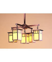 arroyo craftsman raw copper huntington craftsman mission 5 light down lighting chandelier from the huntington collection