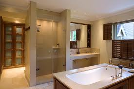bathroom crown molding. Folding Shower Doors Bathroom Contemporary With Ceiling Lighting Crown Molding. Image By: Rahessian Molding