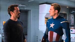 Captain America Civil War 4 Pane Captain America Vs Iron Man