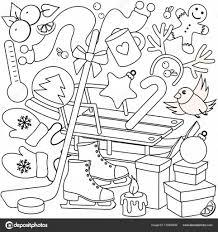 Winter Kleurplaten Voor Kinderen Stockvector Huhabra 173456530