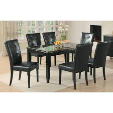 faux stone top dining table. anisa dining table with black faux stone top