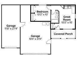 garage apartment plans 1 story plan design 051g
