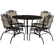 mainstays alexandra square 5 piece patio dining set grey with leaves seats 4 walmart