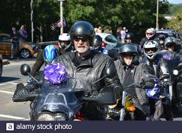 Hundreds of bikers join the funeral procession for 16-year-old murder  victim Louise Smith in Leigh Park, Havant, Hampshire Stock Photo - Alamy