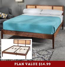 how to build a modern bed frame