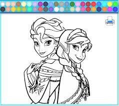 Small Picture Frozen Coloring Games Coloring Coloring Pages