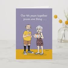 funny 44th wedding anniversary card