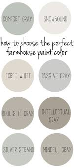 Gray Paint Chart How To Choose The Perfect Farmhouse Paint Colors