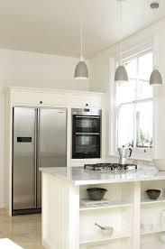 white fridge in kitchen. devol-tunbridge-2 white fridge in kitchen