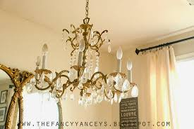 a flea market or thrift chandelier mine is a vintage find from a flea market a few years ago
