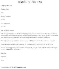 Job Rejection Letters Resume Template Ideas