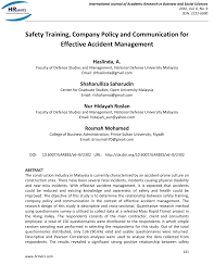 Pdf Safety Training Company Policy And Communication For Effective