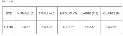 Dakine Glove Womens Size Chart Sturtevants