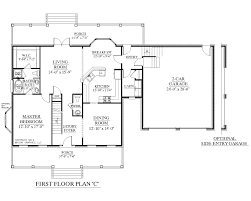 A Simple One Story House Plan With Two Master WICs Big Kitchen Two Master