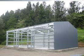 strong light straight fast barns steel and cladding and framing