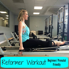 pilates reformer workout beginner prenatal friendly
