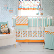 simple orange crib pers aqua crib per striped crib per pads with orange crib bedding sets