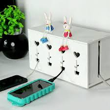 Cable organizer box multiplug extension plug decoration box/DIY box/ Wire  box/ Cable organizer, Home & Furniture on Carousell